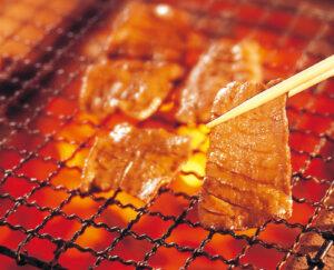No.010393 牛タン(炭火で網焼きアップ)