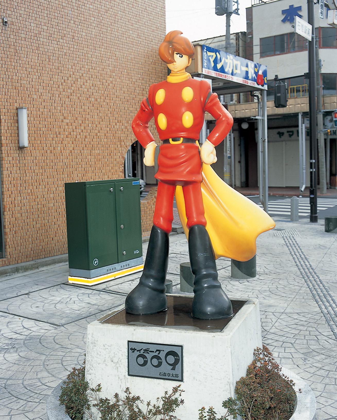 No.020095 石巻マンガロードのキャラクター像