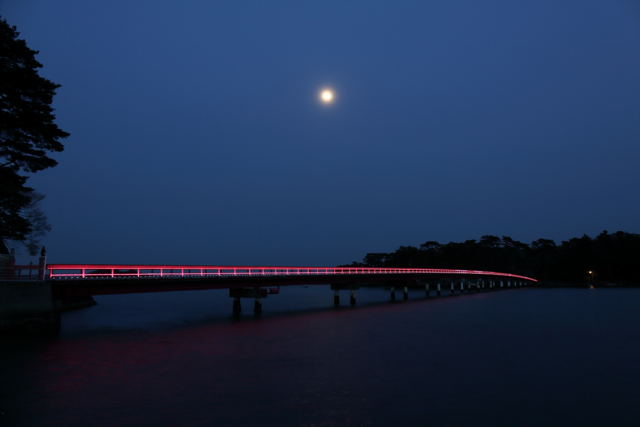 No.240105 福浦橋のライトアップ